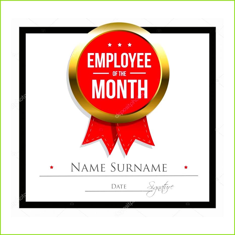 Mitarbeiter des Monats Zertifikatvorlage — Stockvektor