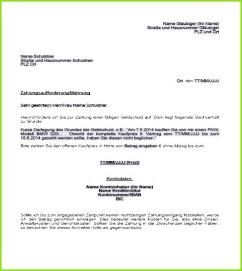 Schreiben Vorlage · Rechnung Privatperson Muster Genial Zahlungsaufforderung Muster Privat