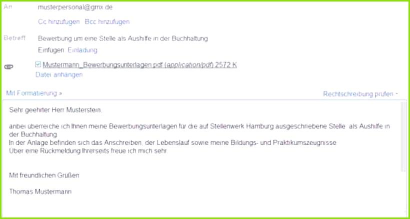 Bewerbung Per Email Muster Jmqh 4 A87f 9 Deckblatt