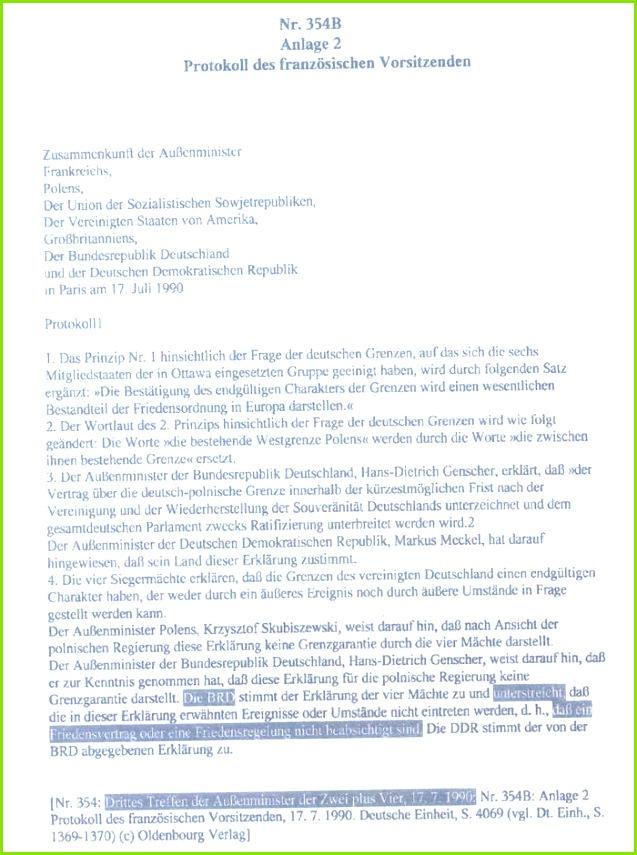 US Hauptquartier bestätigt Nichtexistenz der Bundesrepublik
