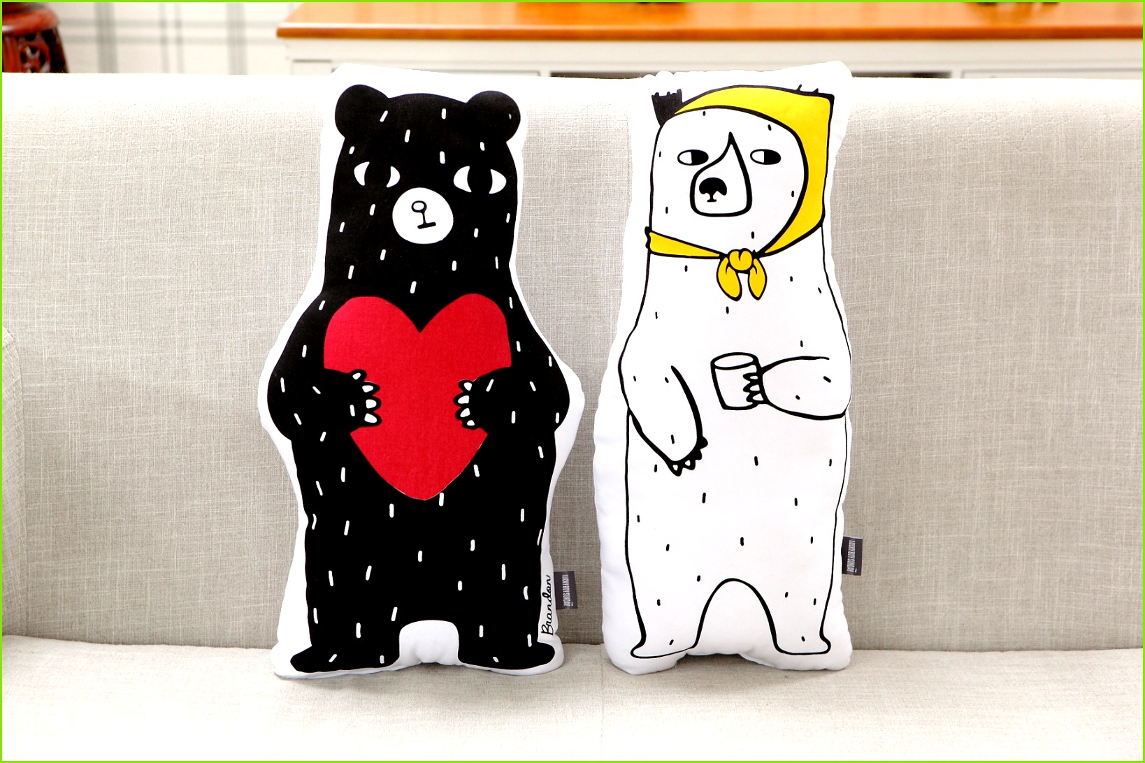 Cute Bear Ins 50 25cm Children Kids Bedroom Toy Dolls Sofa Car Seat Cushion Baby graphy Prop Baby Sleeping Calm Doll us257