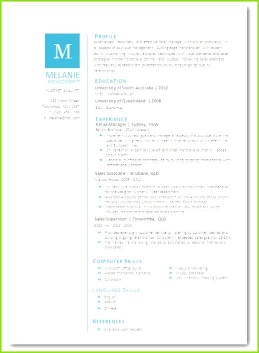 Modern Microsoft Word Resume Template Melanie by Inkpower $12 00 Lebenslauf Innenarchitektur Wieder Aufnehmen