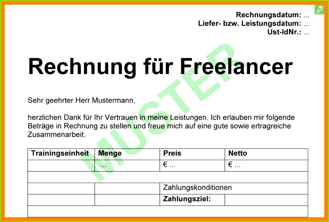 freelancer rechnung vorlage