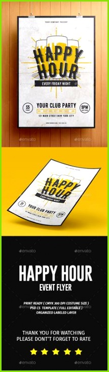 Happy Hour Flyer Template PSD Download here