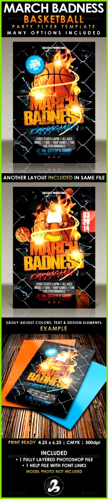 March Badness Basketball Party Flyer Template by CreativB Formerly known as March Madness Basketball Party