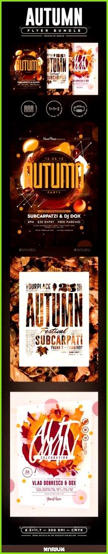 Autumn Flyer Templates Bundle Easy to Edit