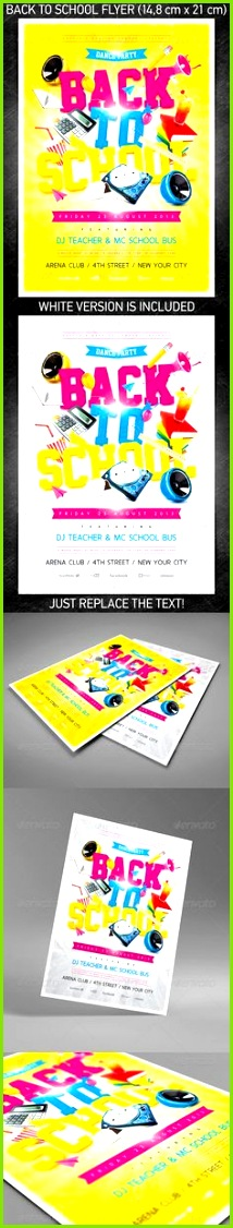 Back To School Party Flyer PSD Template by Design studio via Behance