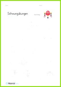 Ein kostenloses Arbeitsblatt mit Schwungübungen in Verbindung mit Spielsachen Jetzt kostenlos en MaterialGuru · Vorschule
