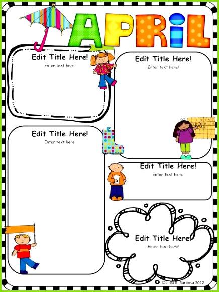 Lehrer Newsletter vorlagen · Vorschule Monatliche Themen · Kinder Alphabet