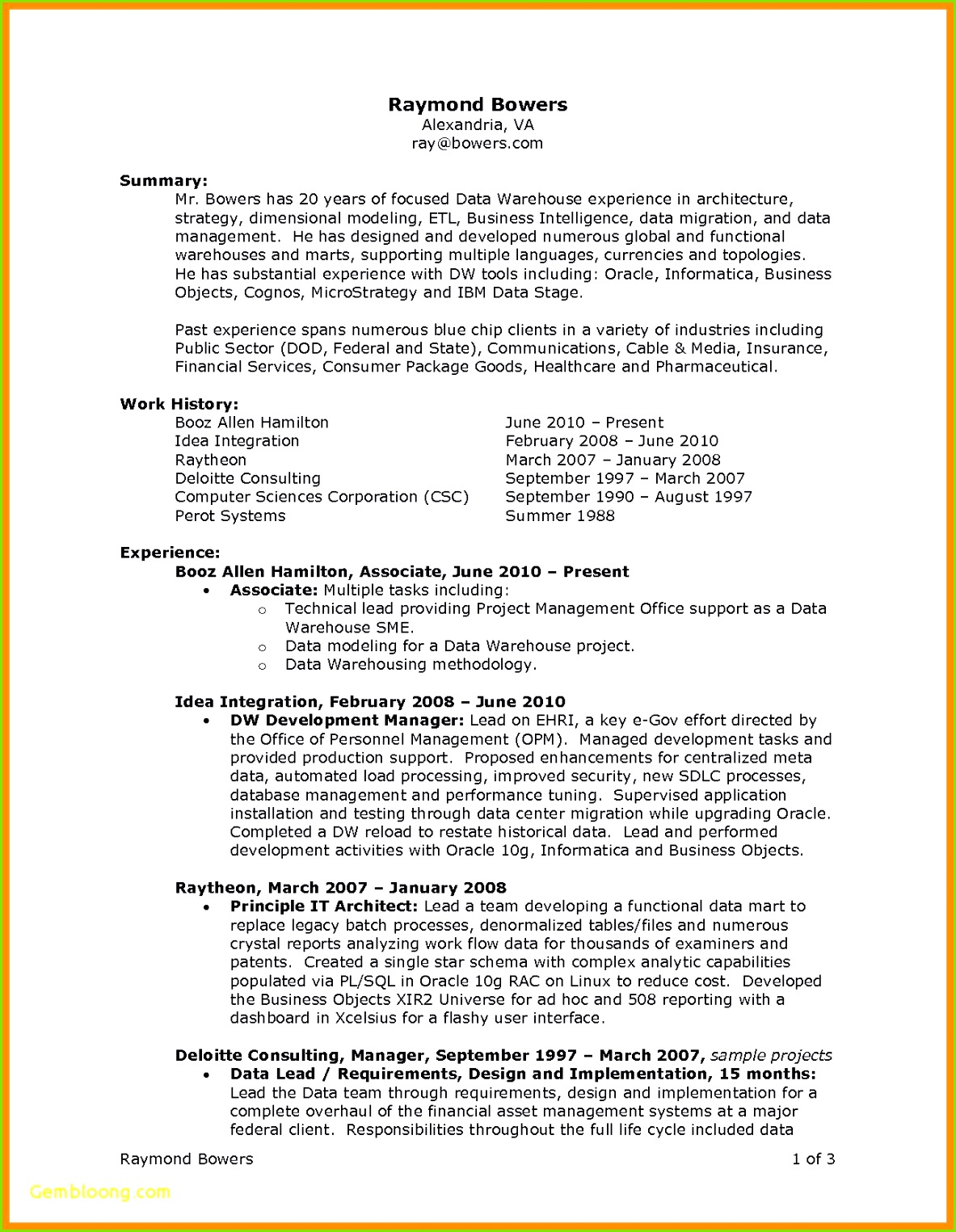 Word 2010 Resume Template Fresh Best Ideas 6 Sample Warehouse Resumes Od Specialist Sample
