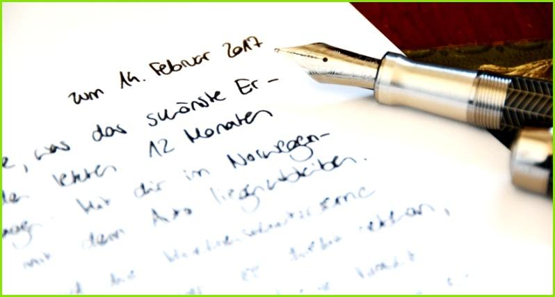 So schreiben Sie einen Liebesbrief