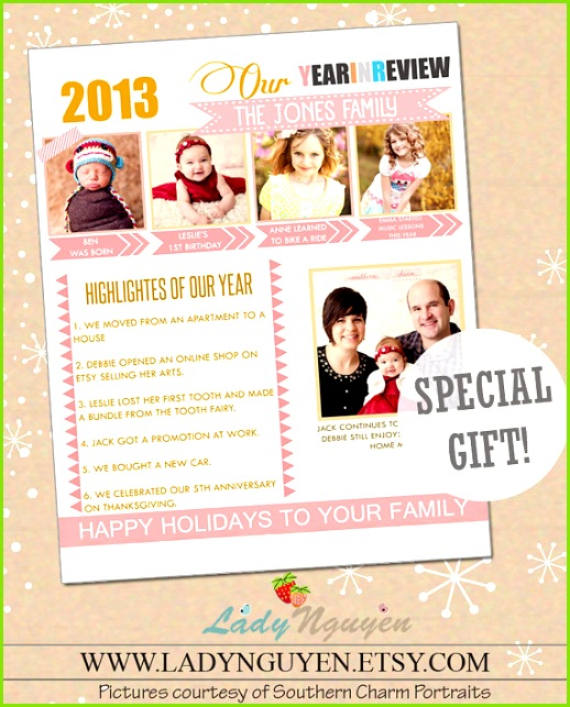 Christmas Newsletter · Family Yearbook · INSTANT DOWNLOAD Year In Review shop Template by LadyNguyen $10 00