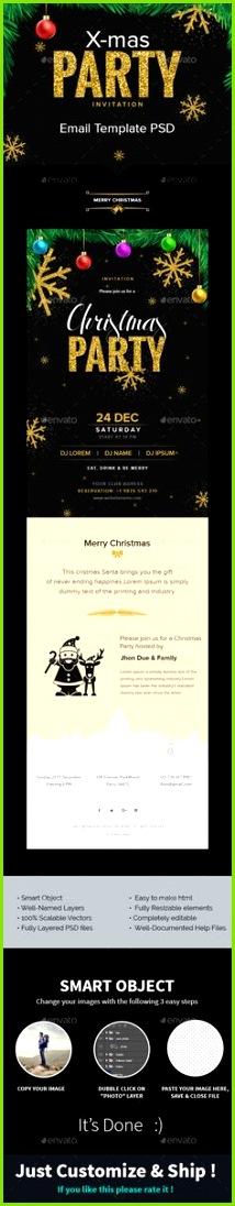 X mas Weihnachten Partyeinladung E Mail Vorlage PSD E