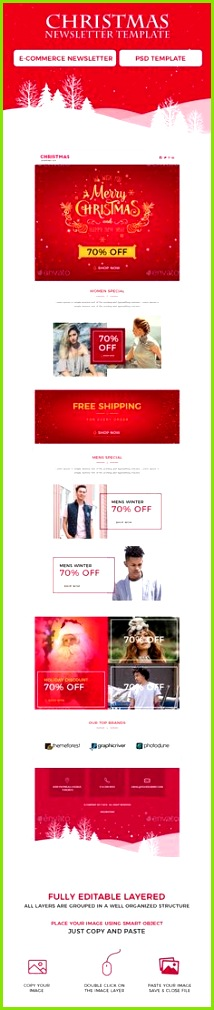 Christmas Newsletters Christmas ¨C Shopping fers Email Template which can be use for