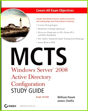 MCTS Windows Server 2008 Active Directory Configuration Study Guide Exam 70 640 Book by William Panek Paperback
