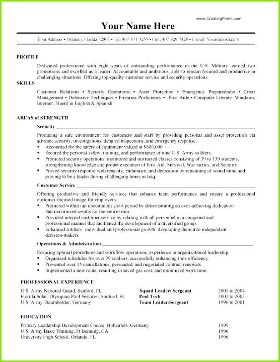 Narrative Resume Samples Free Templates Military Resume 0d Ideas Windows Resume Template