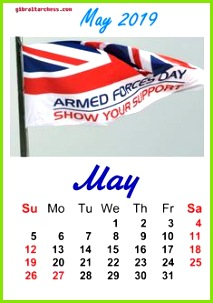 5 May 2019 Holidays Calendar Armed Force Day