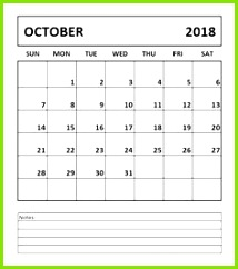 Calendar October 2018 Printable Sheet and Pages Free Printable Calendar Templates Blank with Holidays