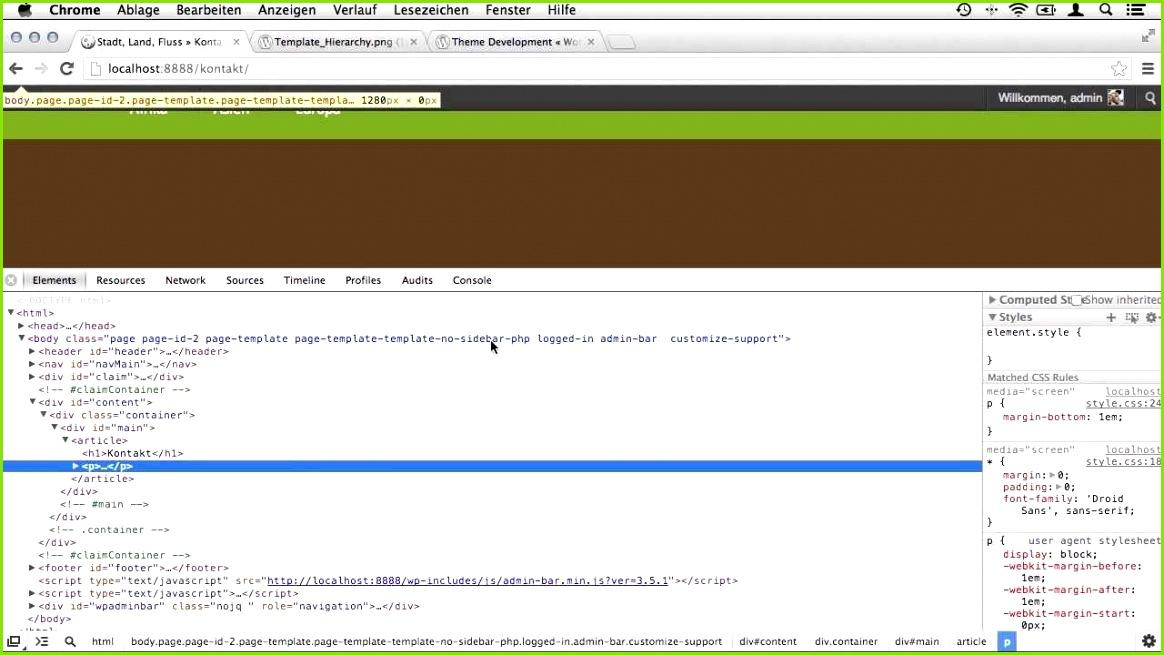 Seitenvorlagen Page Templates für WordPress erstellen