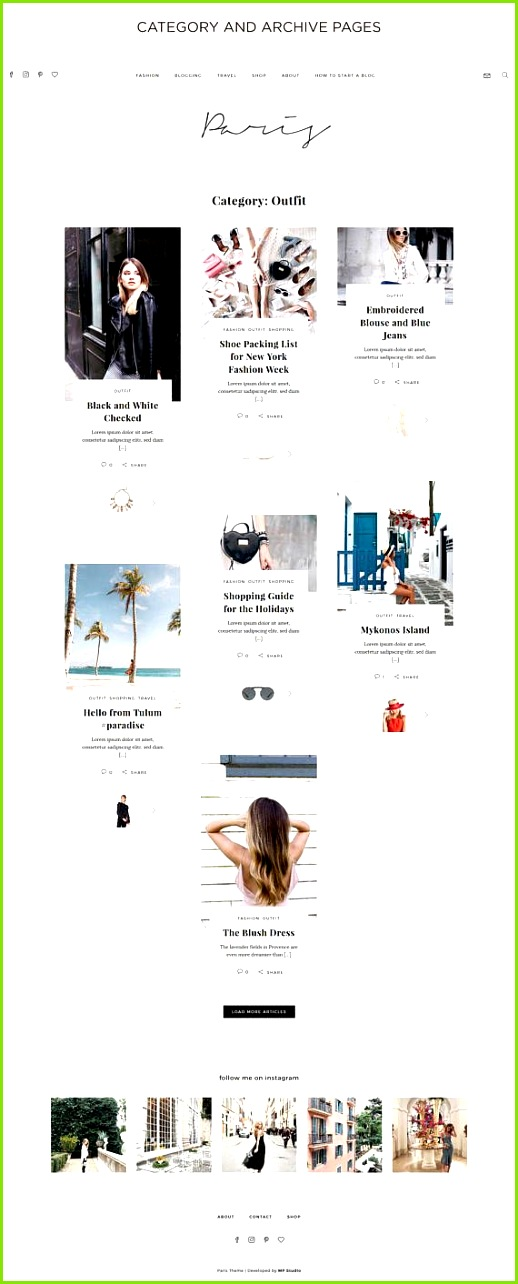 Responsive WordPress Theme Paris Fashion & Lifestyle