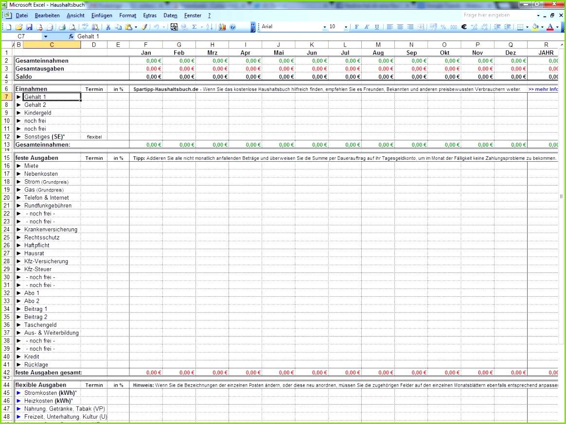 Excel Haushaltsbuch Download CHIP