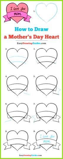 Bilder Zeichnen Ideen Fürs Zeichnen Motive Zum Malen Muttertag Ideen Muttertag Geschenk