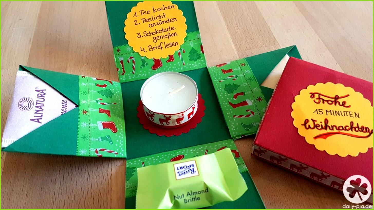 DIY Bastelanleitung für eine 15 Minuten Auszeit oder Weihnachten Box Geschenk für Erzieher Lehrer und alle 15 Minute Auszeit ver nen