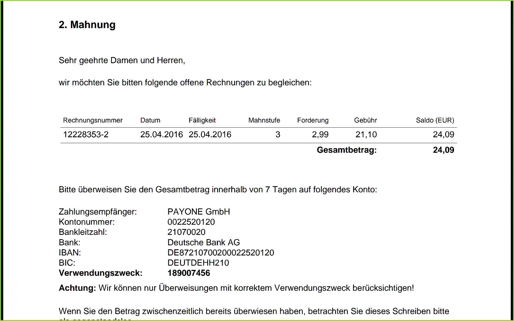 2 Mahnung Mit Mahngebühr Vorlage Wunderbar 2 Mahnung Von Tvnow Rtl