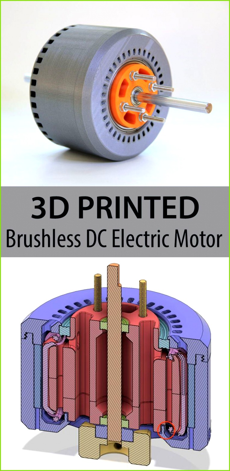This 3d printed brushless DC electric motor has 600 Watts and performs with more than efficiency