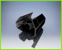 TIE Fighter Vader by LachsAtoll003 Darth Vader Csillagok Háborºja