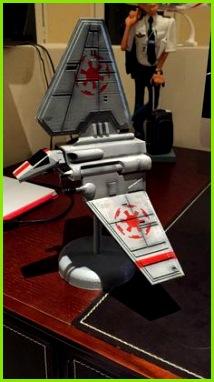 Star Wars 3d printing · Shuttle Lambda series rear side by Supercpt Csillagok Háborºja