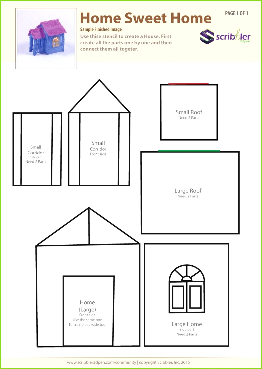3d pen drawing template