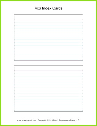 3—5 Card Template Example 4—6 Index Card Template New 8a F3 O D