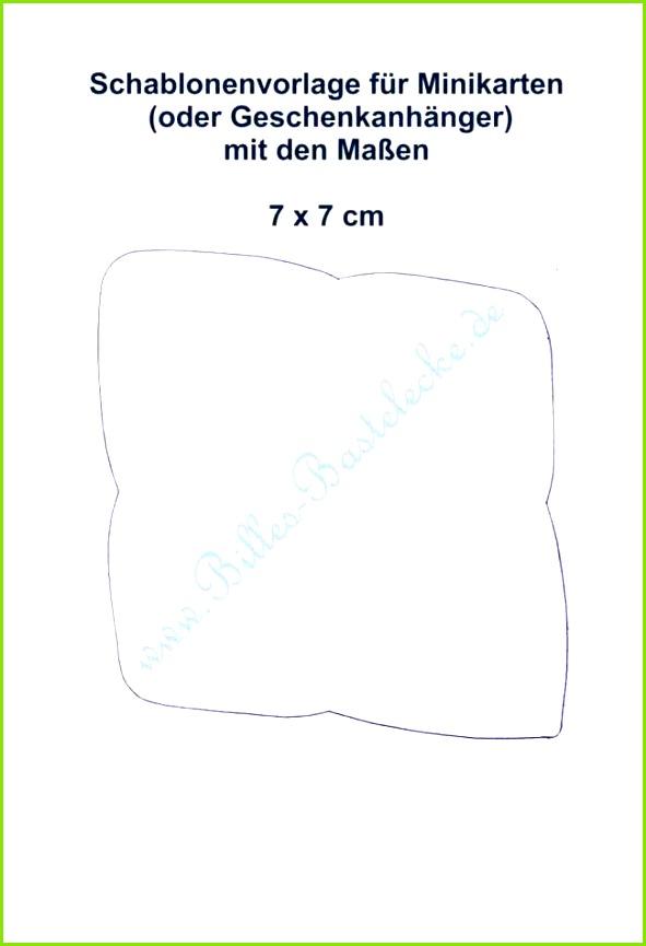 Umschlagvorlage für 7 5 x 10 5 cm Mini Karten