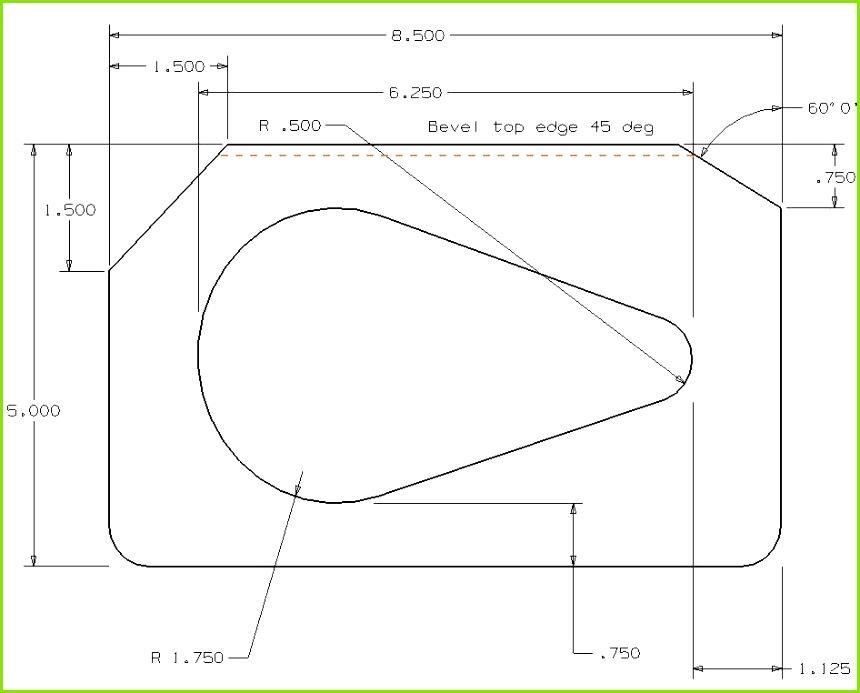 Rear Deck Plate Template Speaker Plate Template