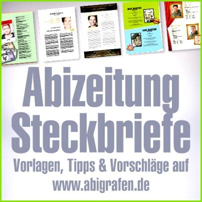 Abizeitung Steckbriefe Vorlagen Tipps & Vorschläge fürs Layout