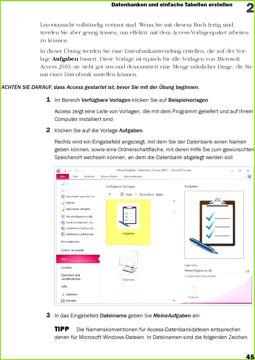 Charmant Microsoft Access 2010 Vorlagen Ideen Beispiel Business
