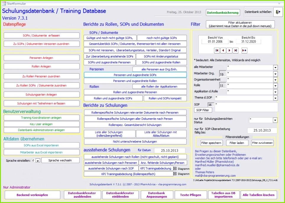 programmierung Schulungsdatenbank Atemberaubend Access 2010 Vorlagen Kostenlos Fotos – Access Vorlagen Lagerverwaltung