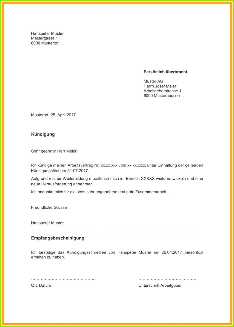 kundigung nebenjob muster kundigung minijob vorlage pdf besten der inspirierende 31 kundigung arbeitsvertrag vorlage word o