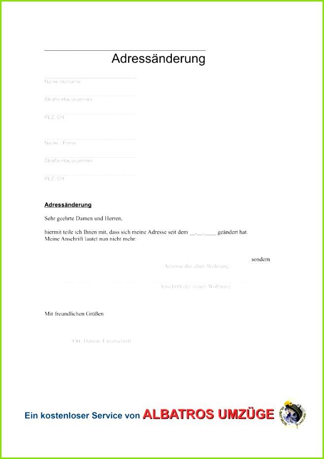 Vordruck Adressänderung Adressänderung Formular nach dem Umzug