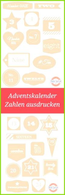 Adventskalender Zahlen ausdrucken KOSTENLOS Zahlen Vorlage zum Ausdrucken ein Weihnachts Adventskalender Basteln VorlagenAdventskalender