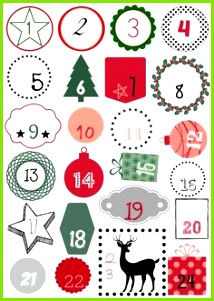 DIY calendario del Adviento Fdefifi n meros descargables Adventskalender Vorlagen Adventskalender Selbst