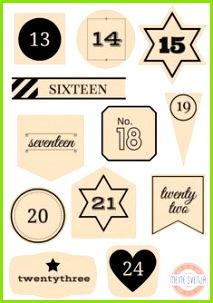 Adventskalender Füllen Ideen Adventskalender Zahlen Zum Ausdrucken Weihnachten Adventskalender Weihnachten Xmas Weihnachten
