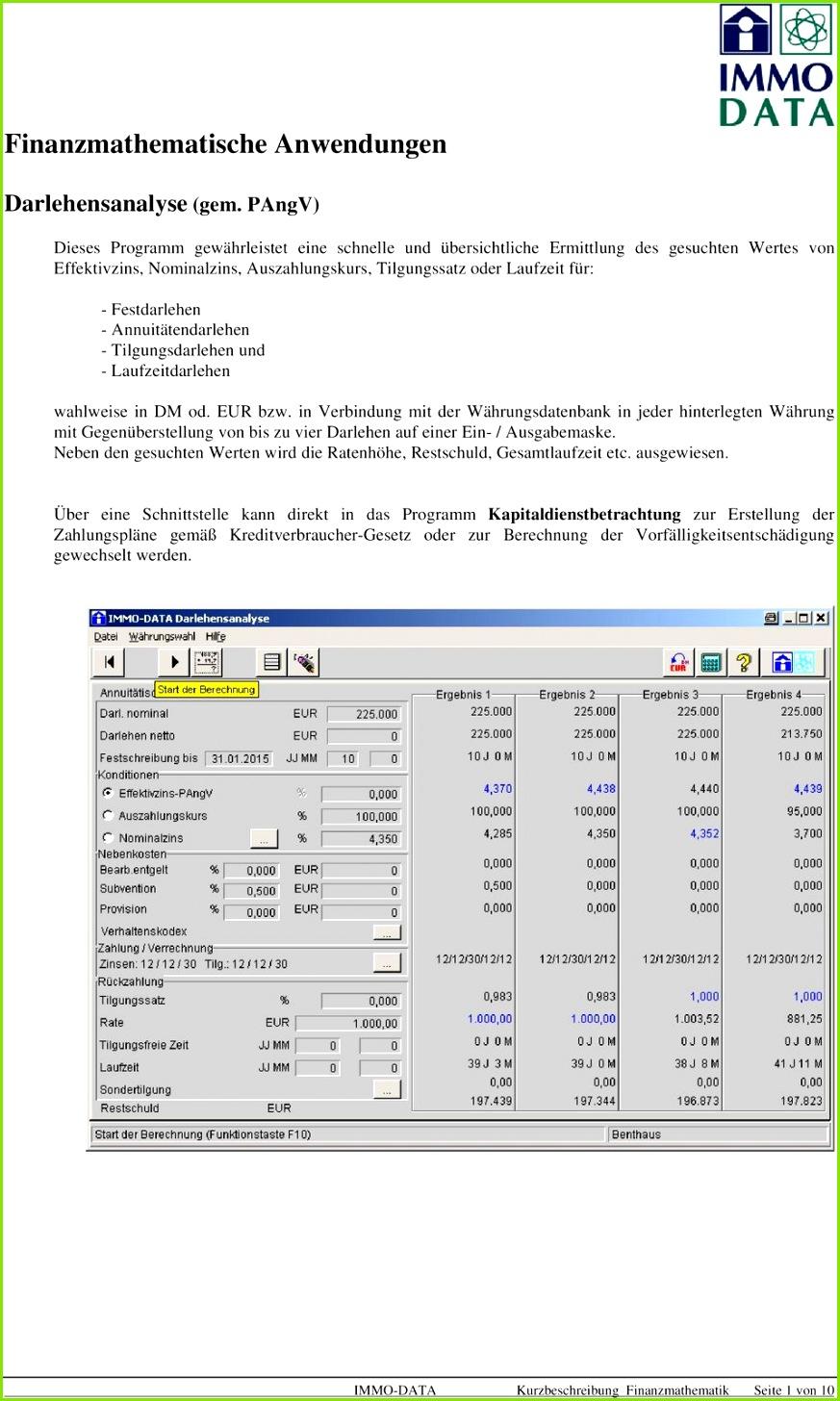 Annuitätendarlehen Tilgungsdarlehen und Laufzeitdarlehen wahlweise in DM od