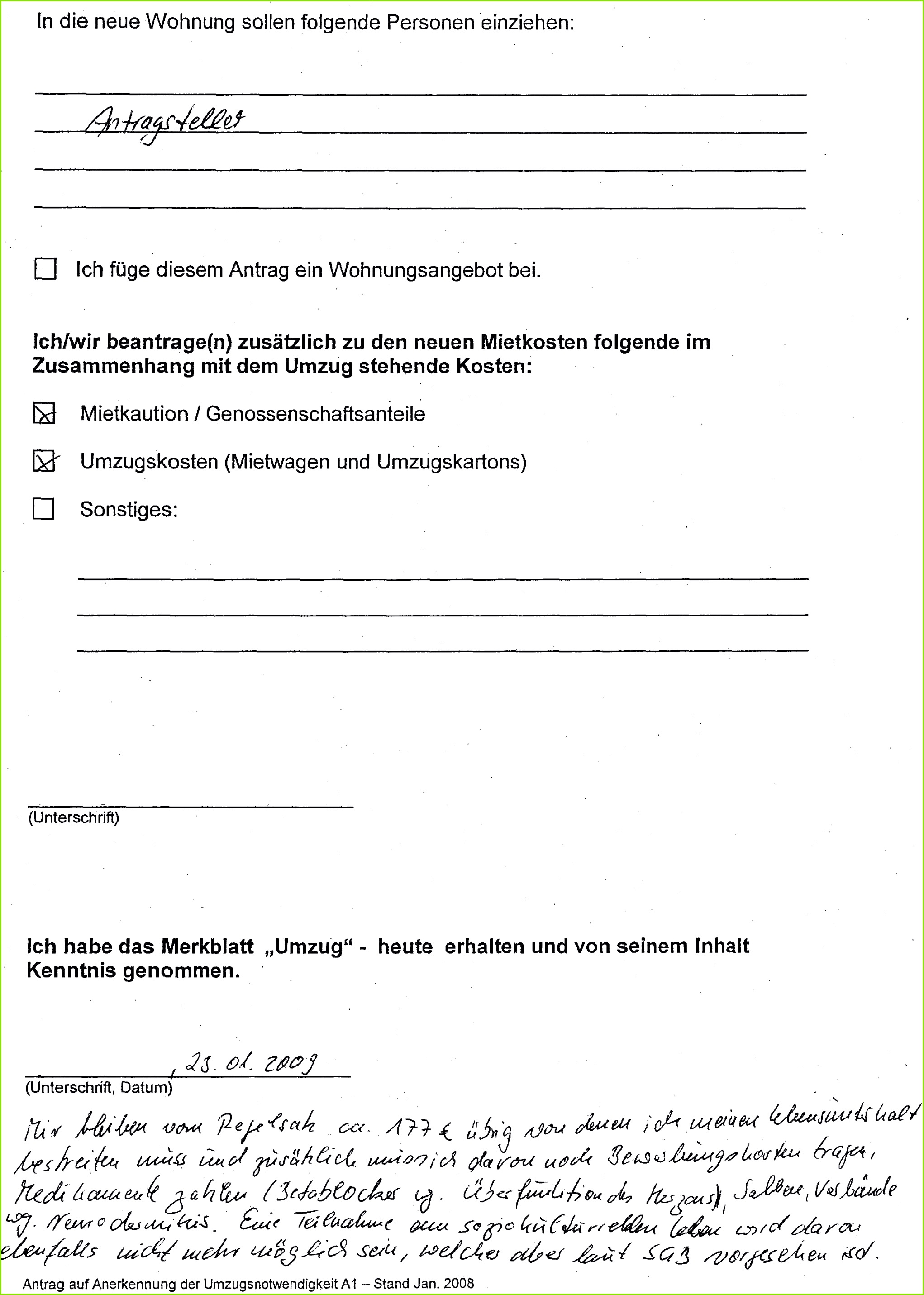 Johannaumzugskosten