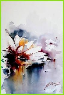 Aquarell Karte Blumen Malen Aquarell Malen Zeichnen Wasserfarben Künstler Blumen Kunst