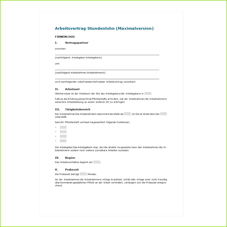 19 arbeitsvertrag muster teilzeit