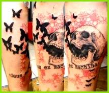 Abstract Skull Tattoo by Xoil Tattoo