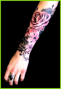 Lovely color realism by French artist Do at l heure bleue Forearm Tattoos For
