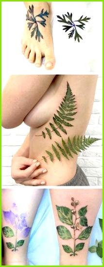 Live leaf tattoos by Rit Kit realistic tattoos Blatt Tattoos Tattoos Flowers